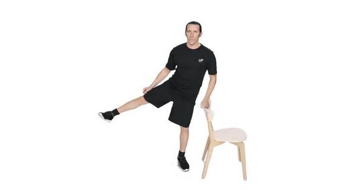 بالا بردن پاها از طرفین- ورزش درمانی آرتروز زانو