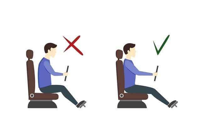 وضعیت بدنی صحیح در هنگام رانندگی