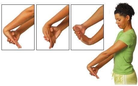 کشش و راست کردن آرنج